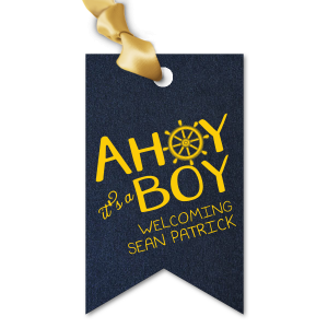 Our beautiful custom Stardream Navy Luggage Gift Tag with Matte Sunflower Foil has a Nautical graphic and is good for use in Beach/Nautical and baby Shower themed parties and couldn't be more perfect. It's time to show off your impeccable taste.