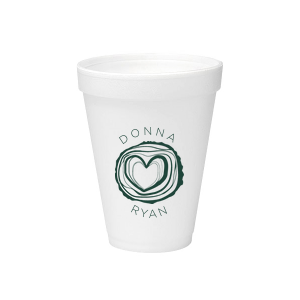 Our beautiful custom Matte Spruce 12 oz Styrofoam Cup with Matte Spruce Ink Color has a Tree Heart graphic and is good for use in Hearts, Frames, Wedding themed parties and can be customized to complement every last detail of your party.