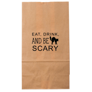 ForYourParty's personalized Kraft Brown Goodie Bag with Matte Black Foil has a Black Cat graphic and is good for use in Animals, Halloween themed parties and will make your guests swoon. Personalize your party's theme today.