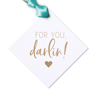 Our personalized Natural Frost White Large Scalloped Gift Tag with Shiny Champagne Foil has a Solid Heart graphic and is good for use in Wedding, Hearts, Anniversary themed parties and are a must-have for your next event—whatever the celebration!