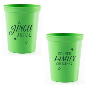 ForYourParty's elegant Lime 16 oz Stadium Cup with Matte Spruce Cup Ink Colors can be customized to complement every last detail of your party.