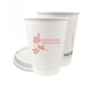 Our personalized 8 oz Paper Coffee Cup with Lid with Matte Poppy Ink Cup Ink Colors has a Three Leaves graphic and is good for use in Holiday and Thanksgiving themed parties and will make your guests swoon. Personalize your party's theme today.