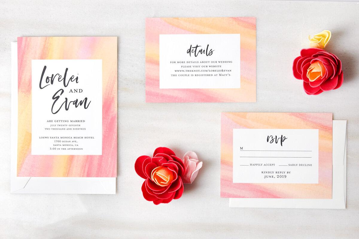Latex Wedding Invitation Template - Invitation Card