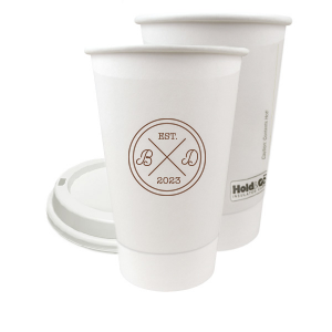 Circle Badge Initials Paper Cup