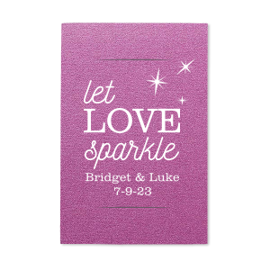 ForYourParty's personalized Stardream Plum Small Sparkler Sleeve with Matte White Foil has a Twilight graphic and is good for use in Star, Sparkly, Delphine themed parties and will impress guests like no other. Make this party unforgettable.