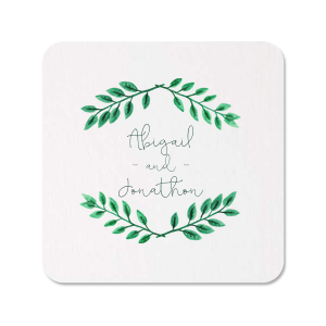 ForYourParty's personalized Photo/Full Color Coaster with Matte Spruce Ink Digital Print Colors will give your party the personalized touch every host desires.