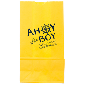 ForYourParty's chic Small Cellophane Bag with Matte Navy Foil has a Nautical graphic and is good for use in Beach/Nautical and Baby Shower themed parties and can be customized to complement every last detail of your party.