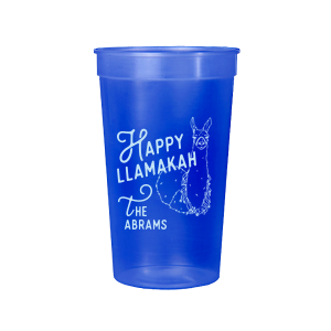 ForYourParty's elegant Powder Blue 16 oz Stadium Cup with Matte Royal Blue Ink Cup Ink Colors has a Party Llama graphic and is good for use in Animals, Kid Birthday, Birthday themed parties and couldn't be more perfect. It's time to show off your impeccable taste.