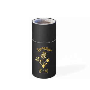 ForYourParty's elegant Natural Black Barrel Matchbox with Shiny 18 Kt Gold Foil Color has a Gardent Flourish 3 graphic and is good for use in Accents themed parties and will look fabulous with your unique touch. Your guests will agree!
