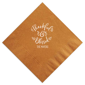 ForYourParty's elegant Burnt Sienna Cocktail Napkin with Matte White Foil will impress guests like no other. Make this party unforgettable.