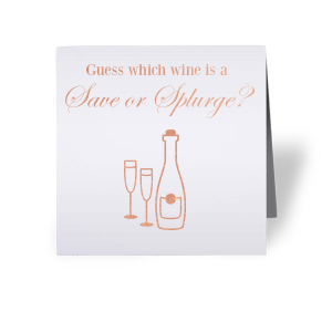 Bridal Shower Wine Game Card