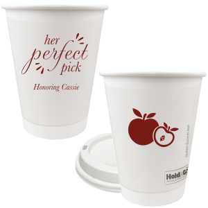 Our personalized Matte Merlot Ink 16 oz Paper Coffee Cup with Lid with Matte Merlot Ink Cup Ink Colors has a Apple graphic and is good for use in Food themed parties and can be customized to complement every last detail of your party.