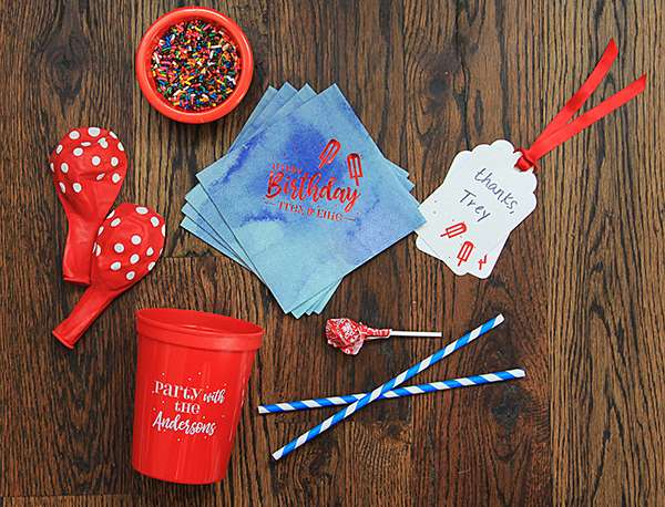 personalized birthday party supplies