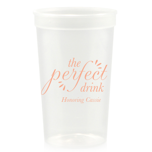 The ever-popular Maroon 16 oz Stadium Cup with Matte Pastel Pink Ink Cup Ink Colors can be personalized to match your party's exact theme and tempo.
