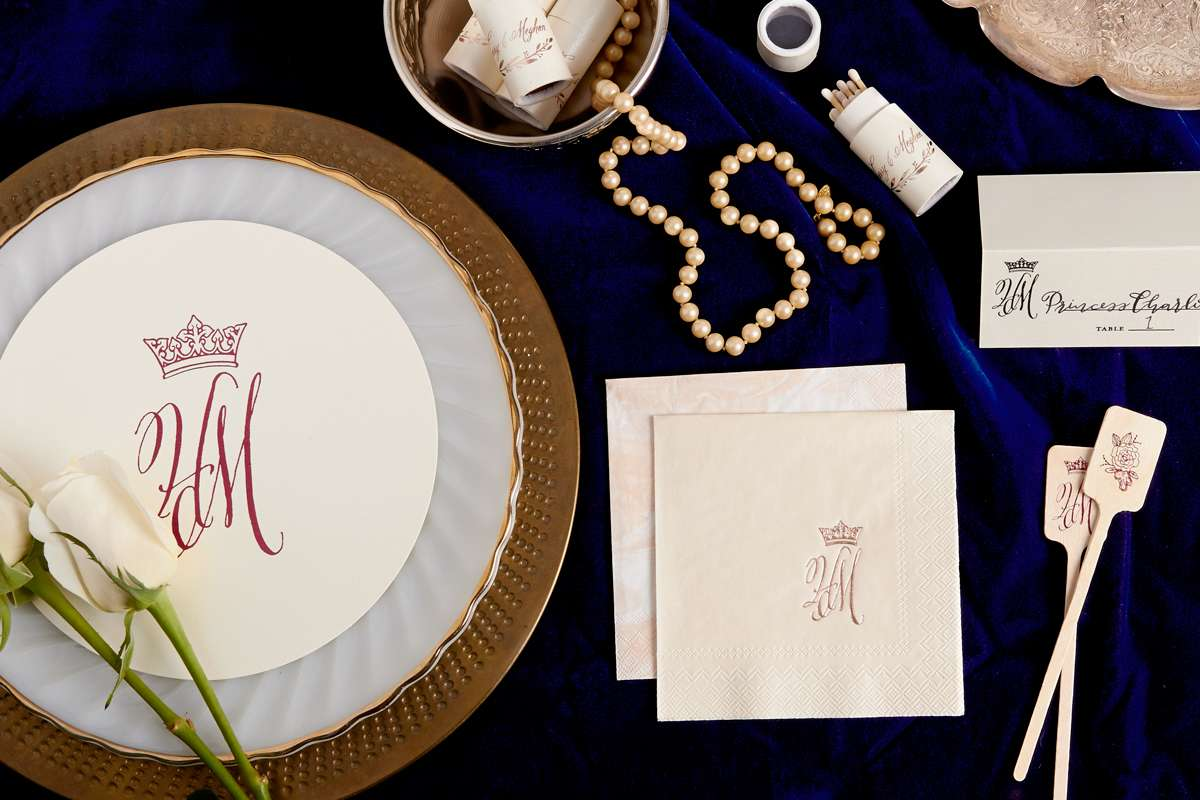 royal wedding themed personalized wedding supplies