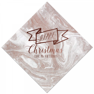 Our custom Marble Taupe Cocktail Napkin with Shiny Merlot Foil Color has a Banner graphic and is good for use in Accents, Frames themed parties and will add that special attention to detail that cannot be overlooked.