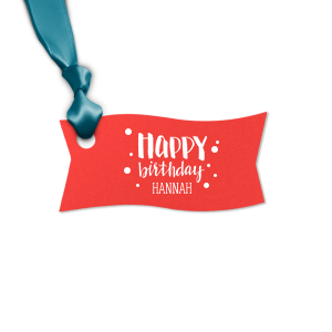 The ever-popular Poptone Peach Round Gift Tag with Matte White Foil has a Happy Birthday graphic and is good for use in Kid Birthday, Birthday themed parties and will impress guests like no other. Make this party unforgettable.