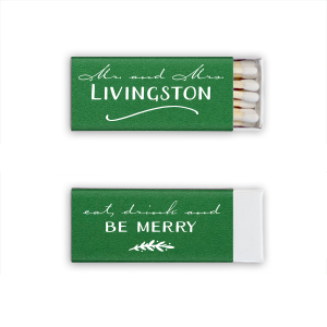 ForYourParty's elegant Natural Leaf Candle Matchbox with Matte White Foil can be personalized to match your party's exact theme and tempo.