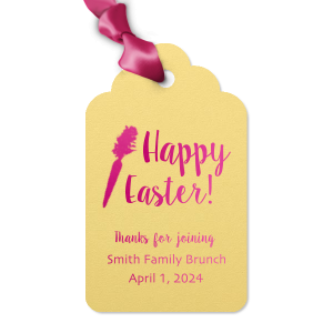 Our personalized Poptone Mimosa Luggage Gift Tag with Shiny Fuchsia Foil has a carrot graphic and is good for use in Food themed parties and can't be beat. Showcase your style in every detail of your party's theme!