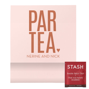 ForYourParty's chic Poptone Ballet Pink Tea Favor with Satin Copper Penny Foil Color will impress guests like no other. Make this party unforgettable.