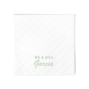 Our custom Moss Green Cocktail Napkin with Shiny Green Tea Foil will impress guests like no other. Make this party unforgettable.
