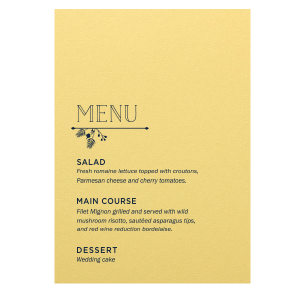 Garden Flourish Menu