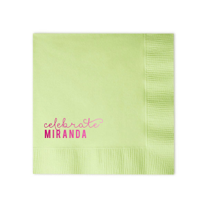 ForYourParty's elegant Woven Seafoam Green Woven Cocktail Napkin with Shiny Fuchsia Foil will add that special attention to detail that cannot be overlooked.