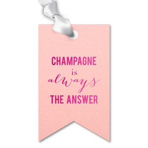 ForYourParty's elegant Poptone Ballet Pink Double Point Gift Tag with Shiny Fuchsia Foil will impress guests like no other. Make this party unforgettable.