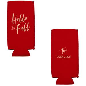 Hello Fall Can Cooler