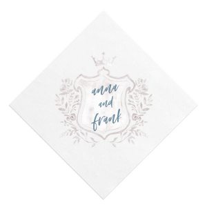 Our custom White Borderless Photo/Full Color Cocktail Napkin with Matte Stone Blue Ink Digital Print Colors will make your guests swoon. Personalize your party's theme today.