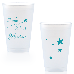 ForYourParty's personalized Matte Teal/Peacock Ink 24 oz Frost Flex Cup with Matte Teal/Peacock Ink Cup Ink Colors will give your party the personalized touch every host desires.