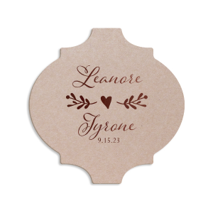 Romantic Names with Heart Coaster