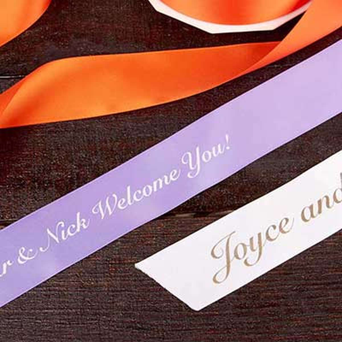 "1 1/2"" custom satin ribbon"