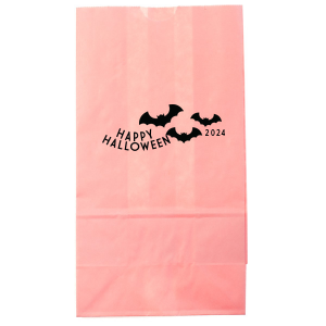 ForYourParty's elegant Pink Party Bag with Matte Black Foil has a Bats graphic and is good for use in Halloween, Holiday, Animals themed parties and will give your party the personalized touch every host desires.