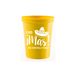 Our beautiful custom Orange 16 oz Stadium Mood Cup with Matte Teal/Peacock Ink Cup Ink Colors has a Sombrero graphic and is good for use in Southwestern, Fashion, Trendy themed parties and will add that special attention to detail that cannot be overlooked.