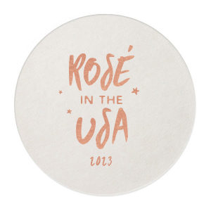 Custom White Square Coaster with Shiny Rose Gold Foil will look fabulous with your unique touch. Your guests will agree!