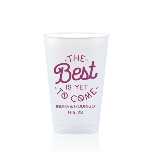 Custom Matte Plum Ink 12 oz Frost Flex Cup with Matte Plum Ink Cup Ink Colors has a The Best 2 graphic and is good for use in Wedding, Trendy themed parties and will add that special attention to detail that cannot be overlooked.