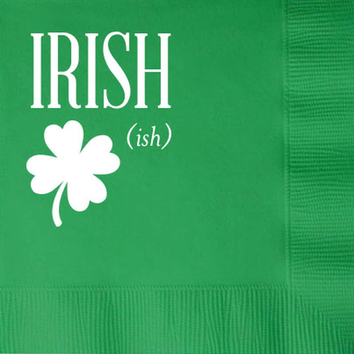 St. Patrick's Day Personalized Cocktail Napkin
