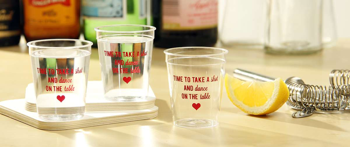 Lemon Drop Shots in Customized Shot Glasses