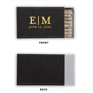 Personalized Black Leather Classic Matchbox with Shiny 18 Kt Gold Foil will add that special attention to detail that cannot be overlooked.