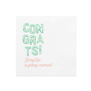 Personalized White Borderless Photo/Full Color Cocktail Napkin with Matte Light Coral Ink Digital Print Colors couldn't be more perfect. It's time to show off your impeccable taste.