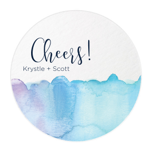 The ever-popular White Photo/Full Color Round Coaster with Matte Navy Ink Digital Print Colors can be personalized to match your party's exact theme and tempo.