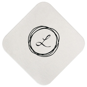 ForYourParty's elegant White Square Coaster with Matte Black Foil has a Circle Doodle Frame graphic and is good for use in Frames themed parties and will add that special attention to detail that cannot be overlooked.