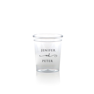 Custom Matte Black Ink Plastic Shot Glass with Matte Black Ink Cup Ink Colors can't be beat. Showcase your style in every detail of your party's theme!