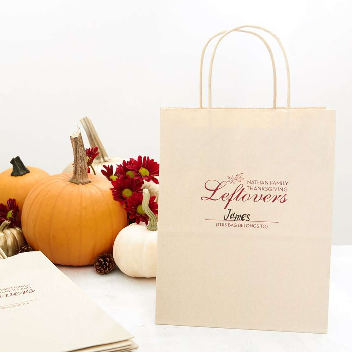 custom designed holiday leftovers gift bag