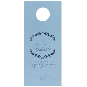 Our custom Poptone Mimosa Door Hanger with Satin Plum Foil Color has a Branch Frame 1 graphic and is good for use in Frames, Floral themed parties and will look fabulous with your unique touch. Your guests will agree!