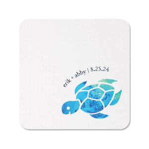 Our custom White Photo/Full Color Square Coaster with Matte Navy Ink Digital Print Colors will give your party the personalized touch every host desires.