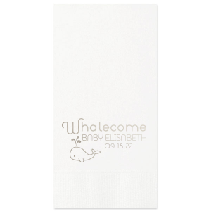 Whalecome Cocktail Napkin