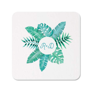 Tropical Leaf Frame Photo/Full Color Coaster