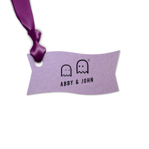 The ever-popular Stardream Lavender Rectangle Gift Tag with Matte Black Foil will give your party the personalized touch every host desires.